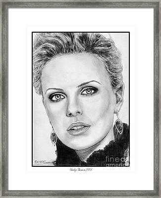 Charlize Theron In 2008 Framed Print