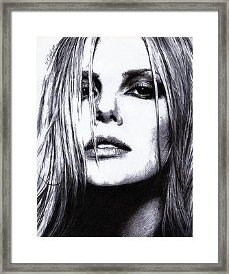 Charlize Theron Framed Print by Justin Clark