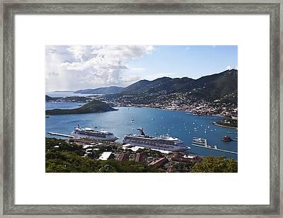 Charlotte Amalie Framed Print by Steve Taylor