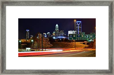 Charlotte At Night Framed Print