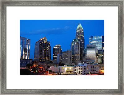 Charlotte At Night Framed Print by James Kirkikis