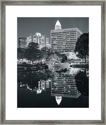 Charlotte Black And White Framed Print