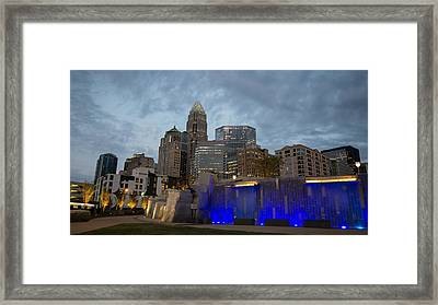 Charlotte City Lights Framed Print by Serge Skiba