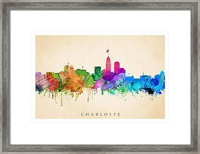 Charlotte Cityscape Framed Print