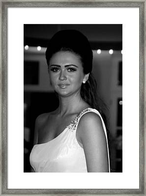 Charlotte Dawson 3 Framed Print by Jez C Self