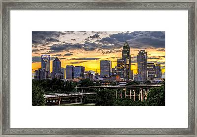 Charlotte Dusk Framed Print by Chris Austin