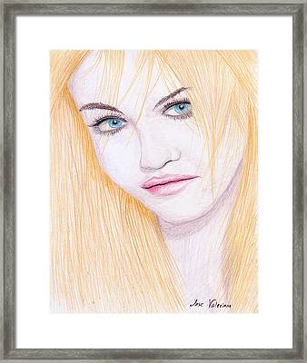 Charlotte Free Framed Print by M Valeriano