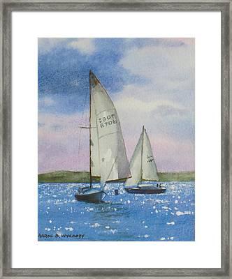 Charlotte Harbor Sail Framed Print by Karol Wyckoff