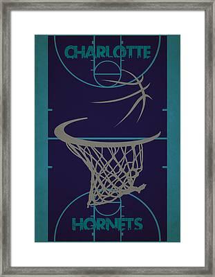 Charlotte Hornets Court Framed Print by Joe Hamilton