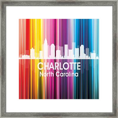Charlotte Nc 2 Squared Framed Print by Angelina Vick