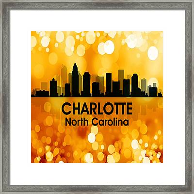 Charlotte Nc 3 Squared Framed Print by Angelina Vick