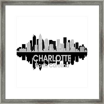 Charlotte Nc 4 Squared Framed Print by Angelina Vick