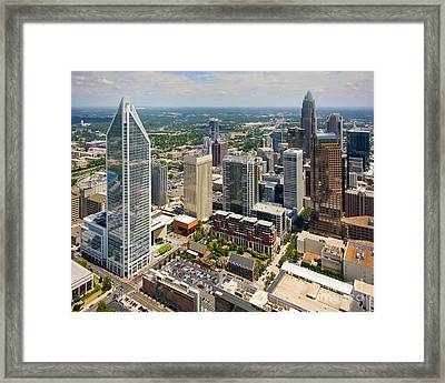 Charlotte Nc In Contrast Framed Print