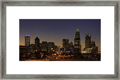 Framed Print featuring the photograph Charlotte Nc by Serge Skiba