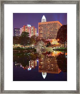 Charlotte Night Reflection Framed Print