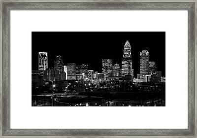 Charlotte Night V2 Framed Print by Chris Austin