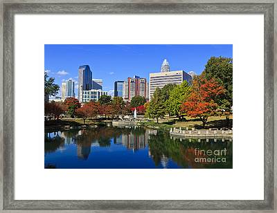 Charlotte North Carolina Marshall Park Framed Print