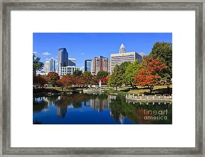 Charlotte North Carolina Marshall Park Framed Print