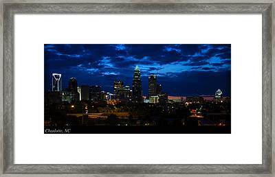 Charlotte North Carolina Panoramic Image Framed Print by Chris Flees