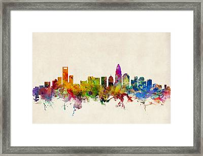 Charlotte North Carolina Skyline Framed Print