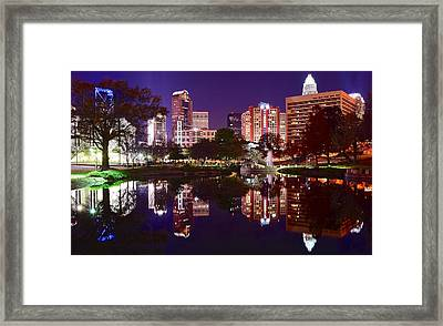 Charlotte Panoramic Reflection Framed Print
