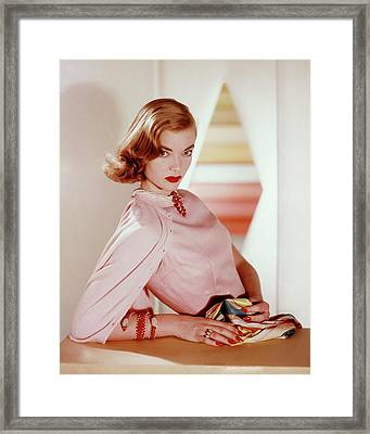 Charlotte Payne Wearing Cartier Jewelry Framed Print by Horst P. Horst