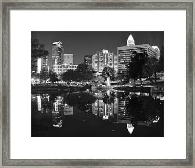 Charlotte Reflecting In Black And White Framed Print