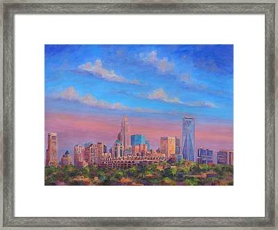 Charlotte Skies Framed Print