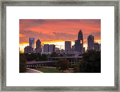 Framed Print featuring the photograph Charlotte Sky by Serge Skiba