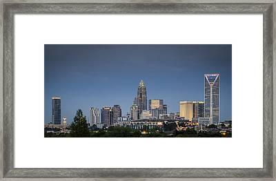 Charlotte Skyline - Clear Evening Framed Print