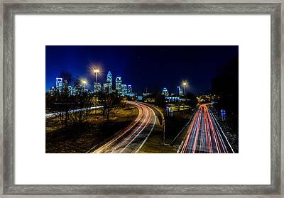 Charlotte Streaks Framed Print by Randy Scherkenbach