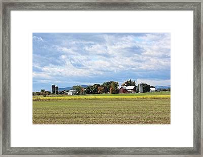 Charlotte Vt Farm Framed Print by William Alexander