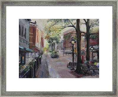 Charlottesville's Historic Downtown Mall Framed Print