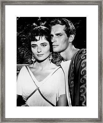 Charlton Heston And Marina Berti Framed Print by Mountain Dreams