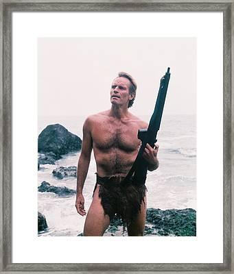 Charlton Heston Rifle Framed Print
