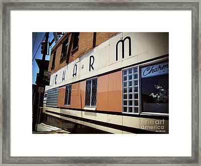 Charm Beauty Shop Pittsburgh Framed Print
