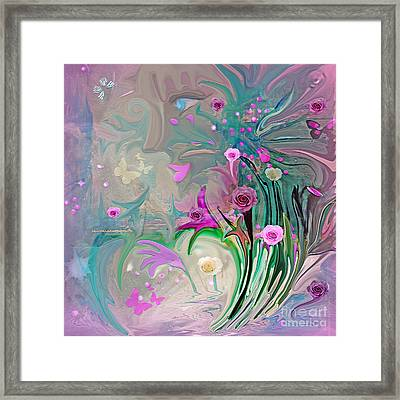 Charm Of The Garden Framed Print