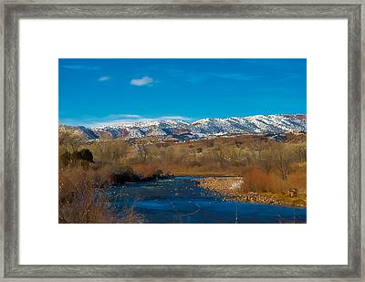 Charma River Framed Print by Lou  Novick