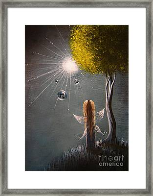 Little Fairy Art By Shawna Erback Framed Print by Shawna Erback