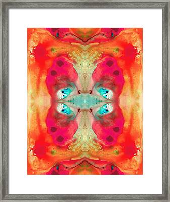 Charmed - Abstract Art By Sharon Cummings Framed Print by Sharon Cummings