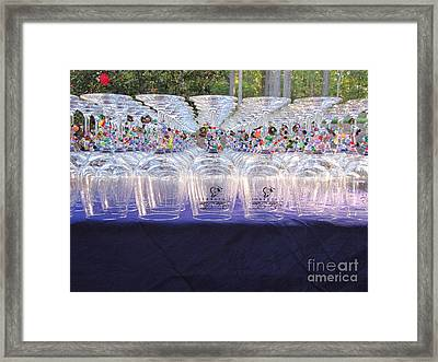Charmed Glasses Framed Print by Gayle Melges