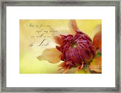 Charmed With Bible Verse Framed Print