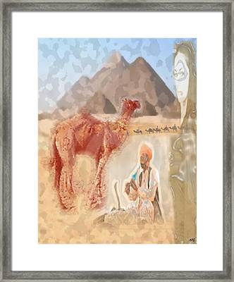 Framed Print featuring the digital art Charmer by Kelly McManus