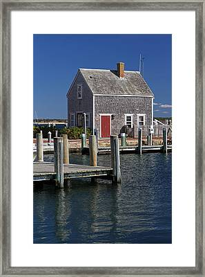 Charming Edgartown Harbor  Framed Print by Juergen Roth