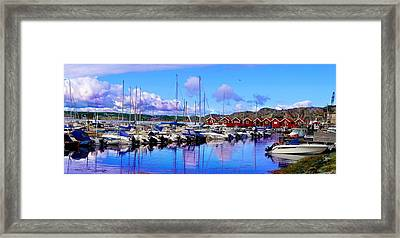 Charming Marina Orust Sweden Framed Print