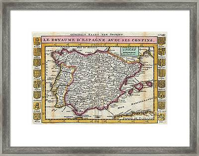 Charming Old World Map Framed Print by Inspired Nature Photography Fine Art Photography