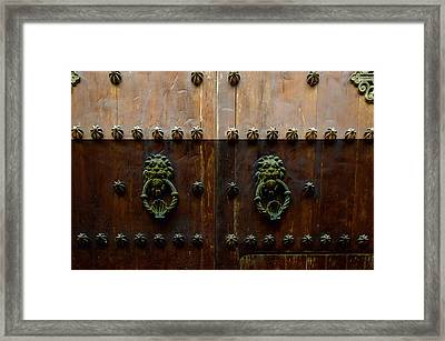 Charming Spanish Colonial Architecture Framed Print
