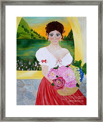 Charming Woman. Inspirations Collection. Framed Print
