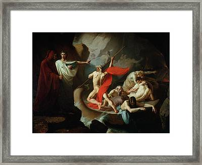 Charon Conveying The Souls Of The Dead Across The Styx, 1860 Oil On Canvas Framed Print