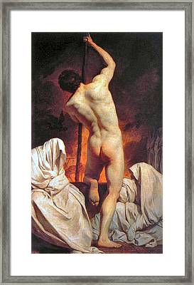 Charon Ferrying The Shades  Framed Print by Pierre Subleyras